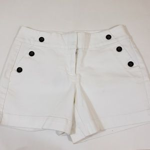 White House Black Market Shorts with side buttons